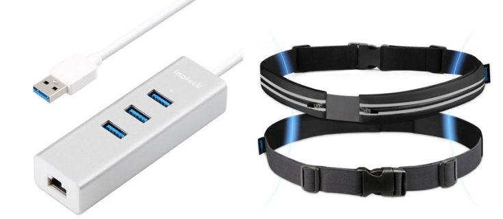 Inateck 3-Port USB 3.0 Hub & Running Waist Pack Belt