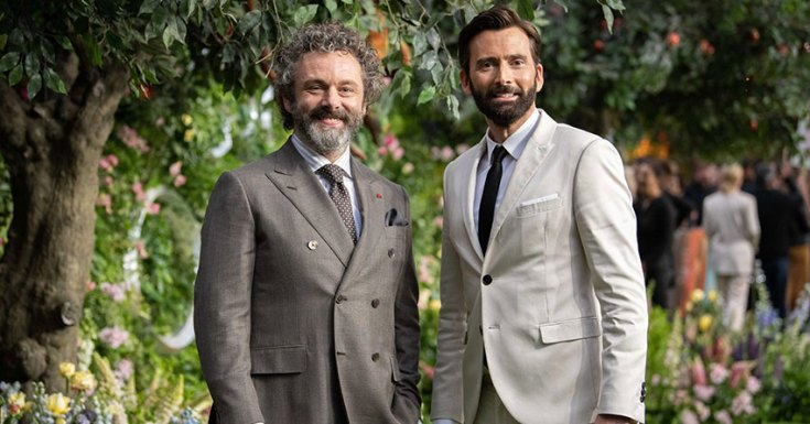 Michael Sheen & David Tennant attend the World Premiere of Good Omens in London ahead of its launch on 31st May on Prime Video