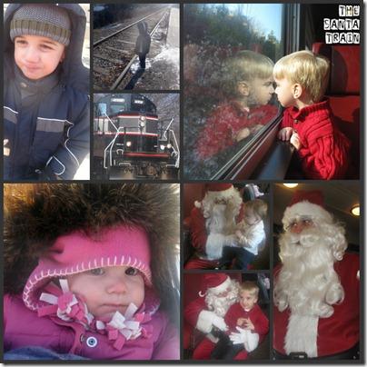 Santa Train Collage