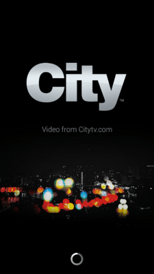 City TV Launch Screen