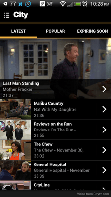City TV Show Selection