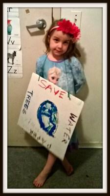 POD: Violet's Earthday Sign