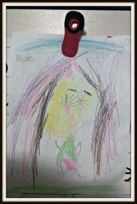 POD: Violet's portrait of Mommy