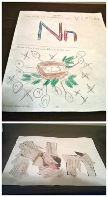 POD: Violet's school work