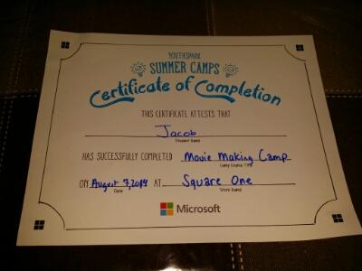 POD: Camp Certificate