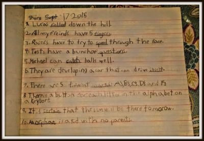 POD: Jacob's Sentences