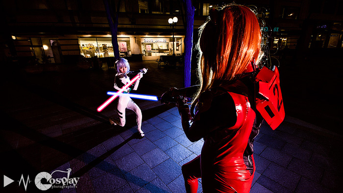 Rei With A Lightsaber