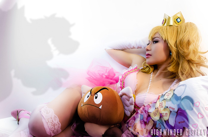 Princess Peach Valentines Day Cosplay