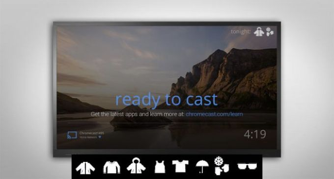 Image result for google chrome cast screen