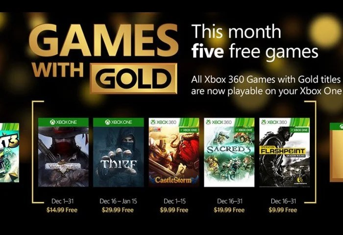 Xbox Live Games With Gold Announced For December 2015 Video Geeky Gadgets