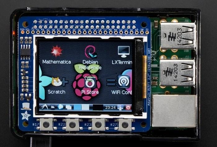 PiTFT 2.2 HAT Mini Kit 320x240 2.2 TFT - No Touch