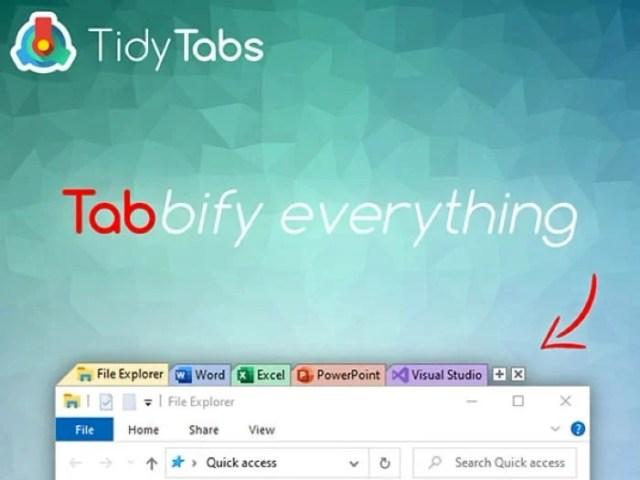 TidyTabs Windows Manager
