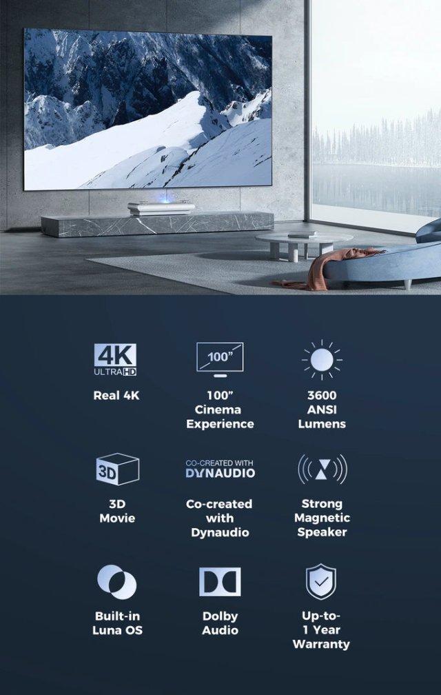 JMGO U2 short throw 4K projector