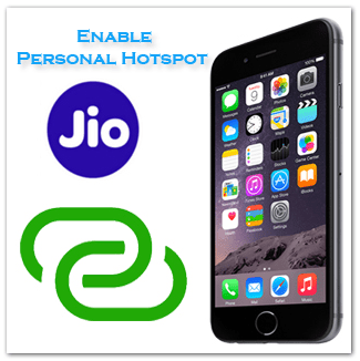 How to Get Personal Hotspot Option in iPhone for Reliance JIO 4G