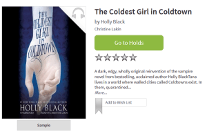 TCL The Coldest Girl in Cold Town by Holly Black
