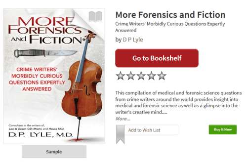 More Forensics and Fiction by DP Lyle Plano Library