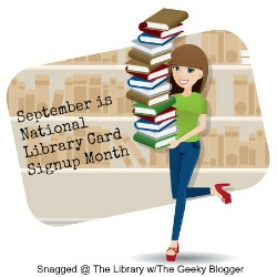 LIbrary Card Month w/The Geeky Blogger
