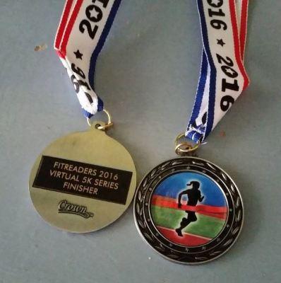 2016 Virtual 5K medals