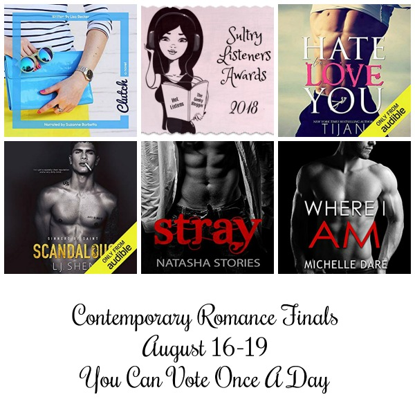 #SultryListeners 2018 Contemporary Romance Finals #LoveAudiobooks @MLSimmons