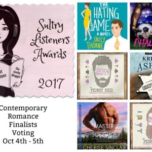 #SultryListeners Awards Contemporary Romance FINALS Oct 4th-5th @mlsimmons #LoveAudiobooks