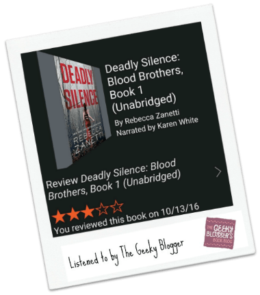#instareview Deadly Silence by Rebecca Zanetti /Narrated by Karen White