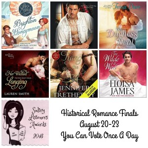#SultryListeners 2018 Historical Romance Finals #LoveAudiobooks @MLSimmons