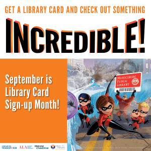 #LoveMyLibraryCard Audiobooks are there too #LibraryCardSignupMonth