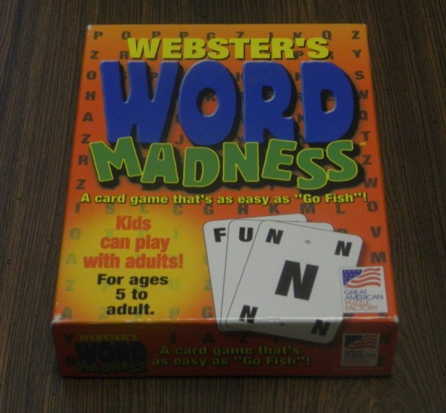 Word Madness Card Game Review   Geeky Hobbies Word Madness Box