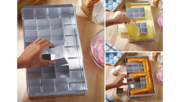 pixelated cake pan