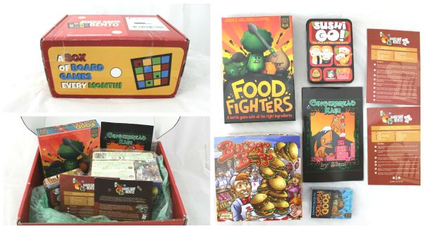 Board Game Bento Collage