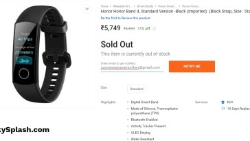 Honor-Band-4-Listed-on-Flipkart-India