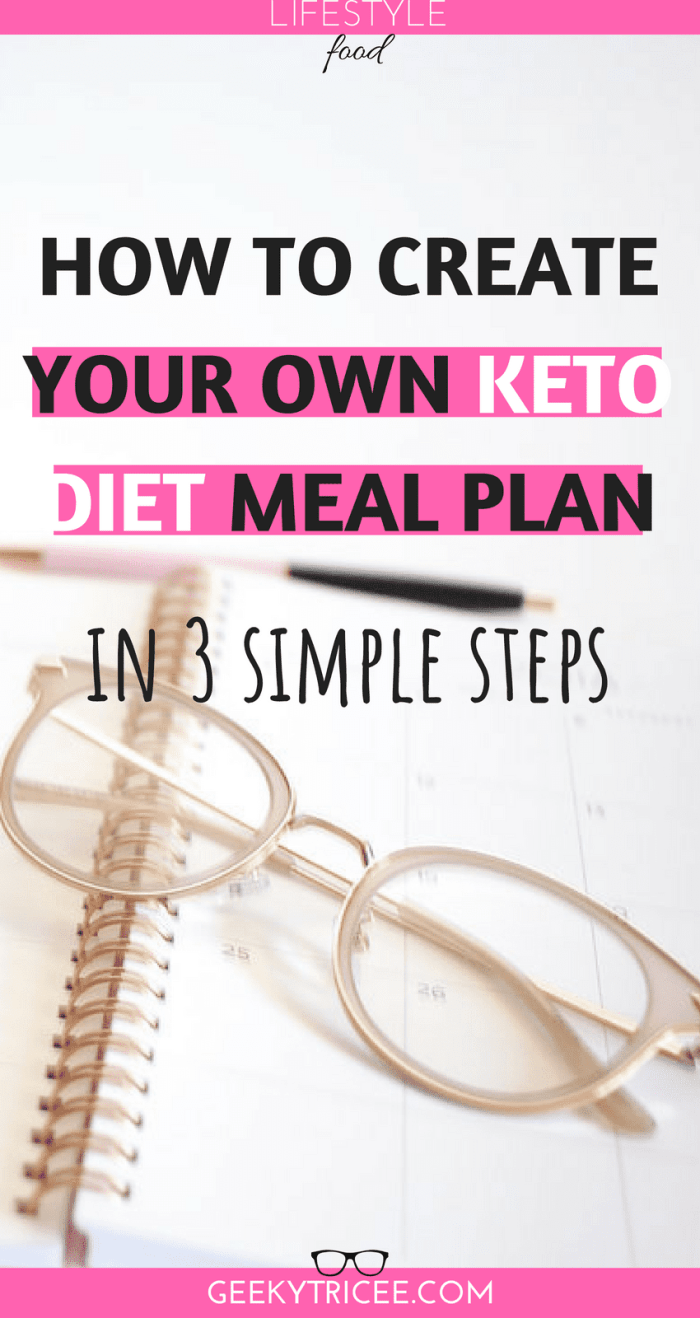 How To Write A Keto Diet Meal Plan In 3 Simple Steps Geekytricee