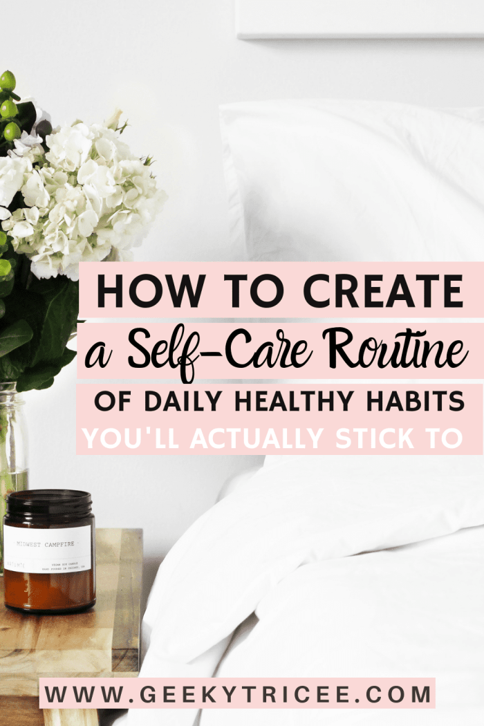 How to create a self-care routine
