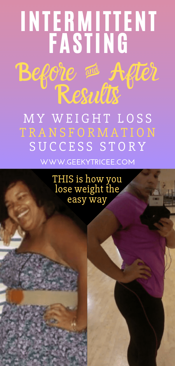 intermittent fasting before and after success story pin