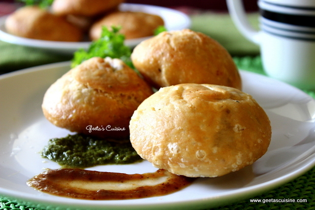 Green Moong Daal Kachori