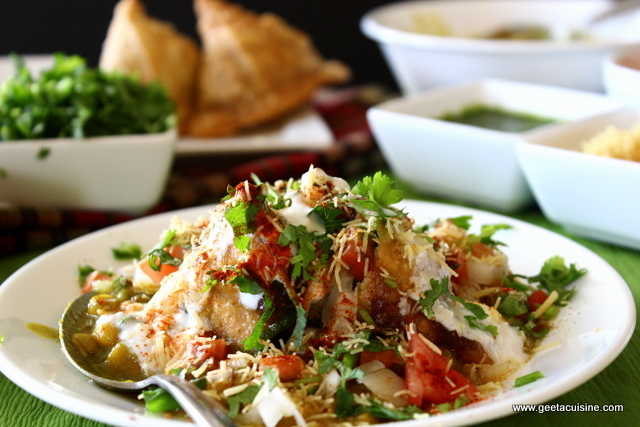 Samosa Chaat – Geeta's Cuisine