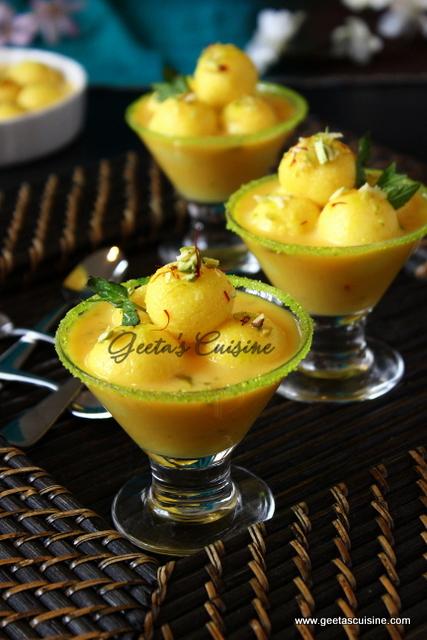 Mango Angoori Rasmalai
