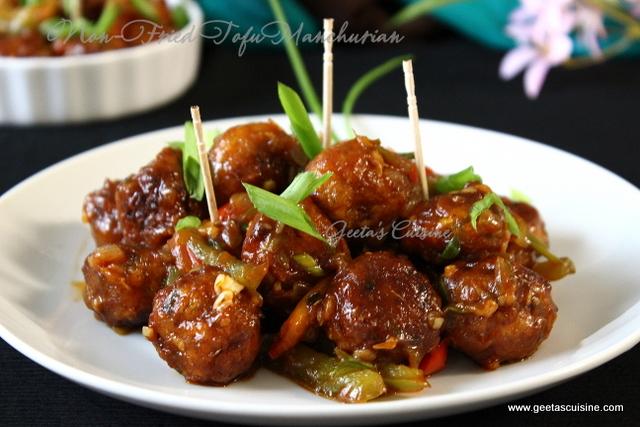 Non Fried Veg Tofu Manchurian Dry Geeta S Cuisine
