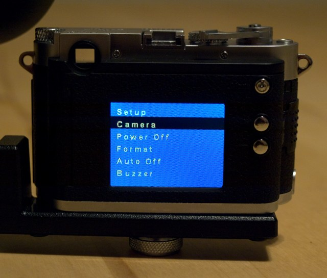 Low quality screen and menus on the DCC M3