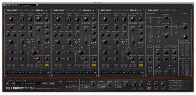Full Bucket Music's amazing FB-3300 VST - a freeware Korg PS-3300