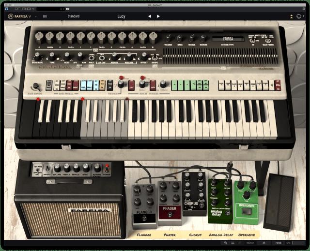 The Farfisa V VST from Arturia - editable combo organ