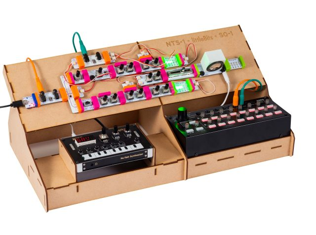 LittleBits synth kit with Korg NTS-1 and SQ-1 sequencer