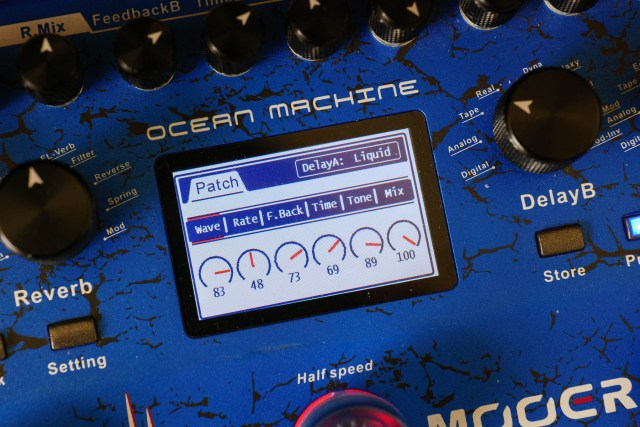 Wave and Rate parameters on Ocean Machine's Liquid delay
