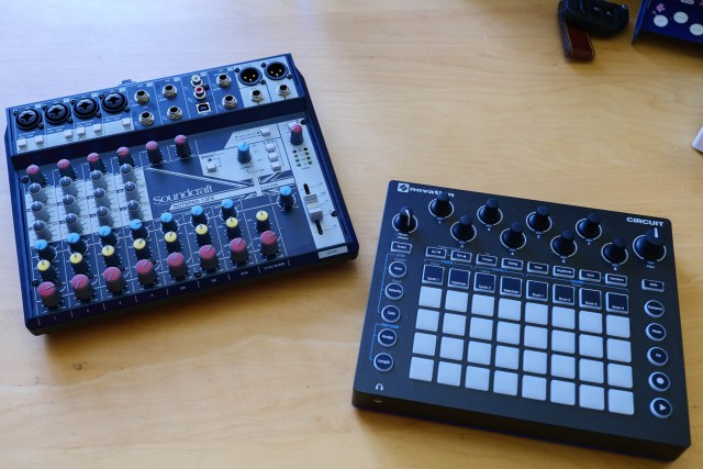Soundcraft Notepad 12FX and Novation Circuit