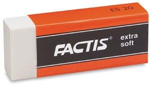 General's Factis Extra Soft Eraser, white
