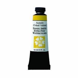 Aureolin (Cobalt Yellow), Watercolor 15 ml Paint Tube