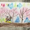 幼児が描く「春のテーマ画」・ほのぼのしますよ!