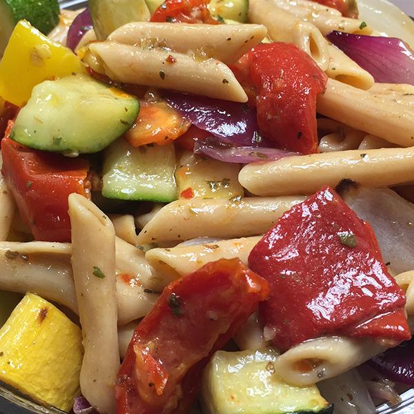 Lentil Pasta Primavera Salad