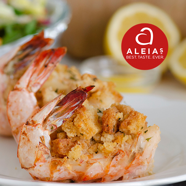 Shrimp Stuffed with Aleia's Gluten free Stuffing