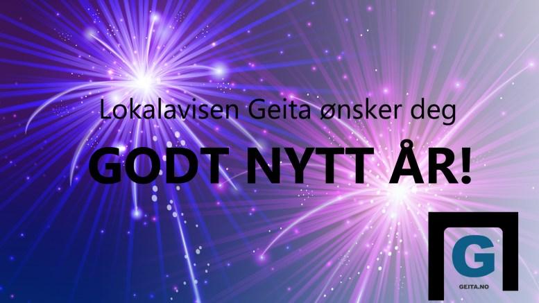 VELKOMMEN 2018: Lokalavisen Geita ønsker godt nytt år. Illustrasjon: Lokalavisen Geita/Freepik